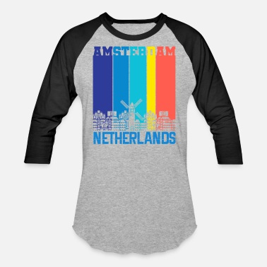 Netherlands Amsterdam Holland Netherlands - Baseball T-Shirt