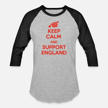 England Supporter Keep Calm and support England - Baseball T-Shirt