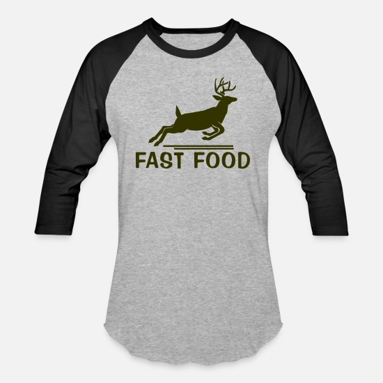Movie T-Shirts - Fast Food - Unisex Baseball T-Shirt heather gray/black
