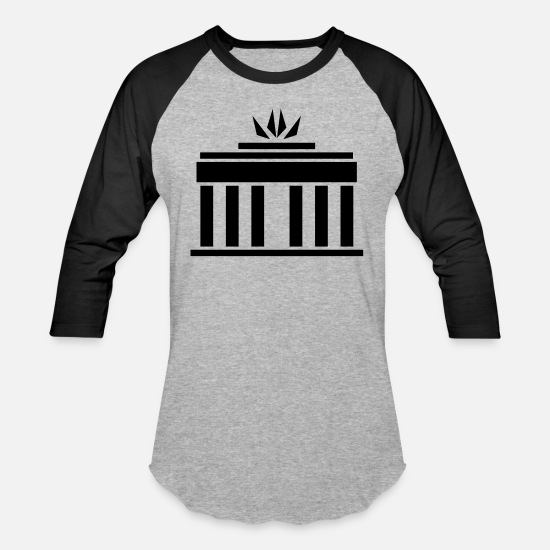 German T-Shirts - Brandenburg Gate - Unisex Baseball T-Shirt heather gray/black