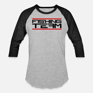 Fishing Team beam red fishing team sport logo caught fish fishi - Baseball T-Shirt