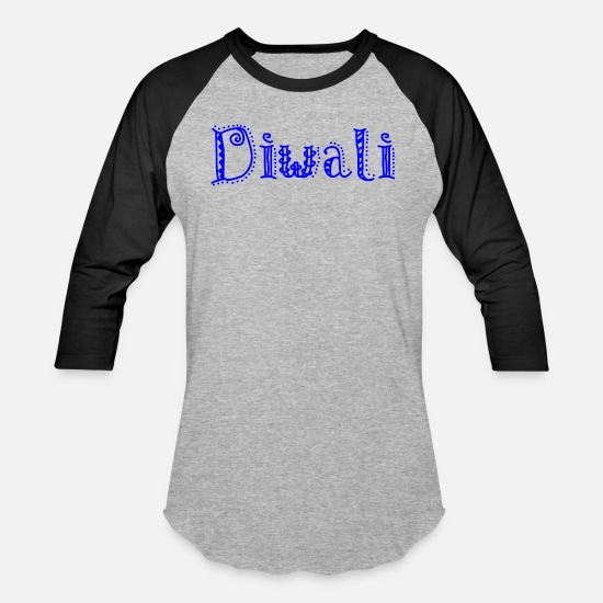 Happy T-Shirts - Diwali - Unisex Baseball T-Shirt heather gray/black