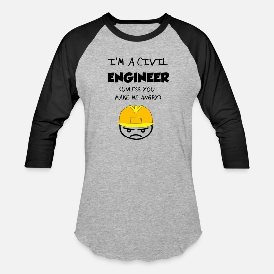 Civil Engineering T-Shirts - Civil Engineer - Unisex Baseball T-Shirt heather gray/black