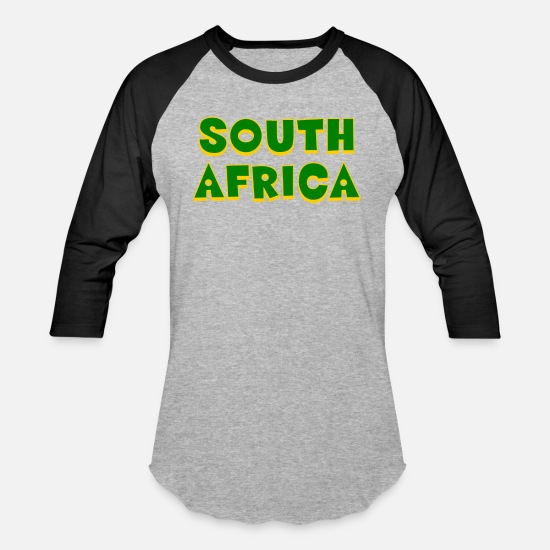 Gift Idea T-Shirts - South Africa - Cape Town - Johannesburg - Durban - Unisex Baseball T-Shirt heather gray/black
