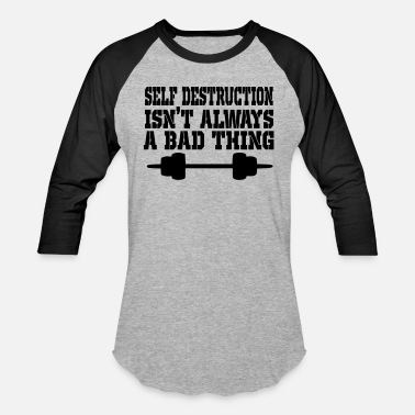 Destruction self destruction - Baseball T-Shirt