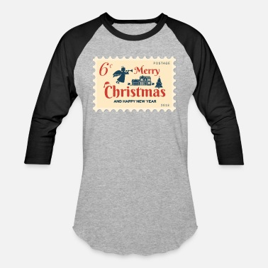 Stamp Stamp 6 Cent - Merry Christmas & Happy New Year - Unisex Baseball T-Shirt