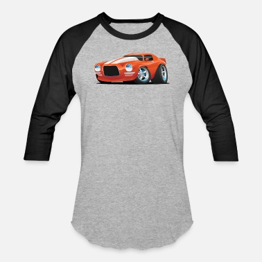 Muscle Classic Seventies Muscle Car Cartoon - Unisex Baseball T-Shirt