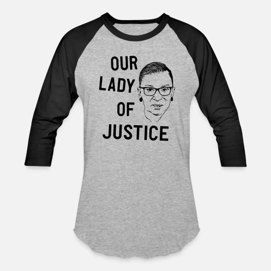 Activist T-Shirts - Our lady of Justice RGB - Unisex Baseball T-Shirt heather gray/black