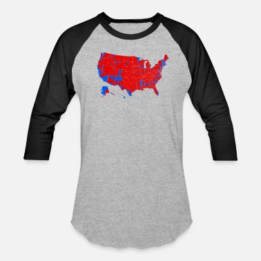 Election 2016 Presidential Election by County - Baseball T-Shirt