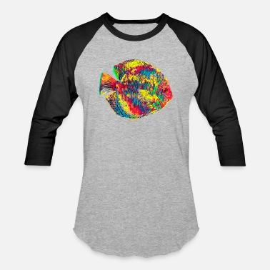 Discus Fish Aquarium Discus Fish Vintage Colored Design - Baseball T-Shirt