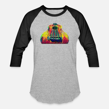 Electric Guitar Ukulele Hawaii Music Instrument Gift For Musician Color Designed - Unisex Baseball T-Shirt