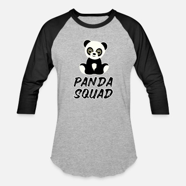 Panda Kids funny and cute panda squad panda bear for kids - Baseball T-Shirt