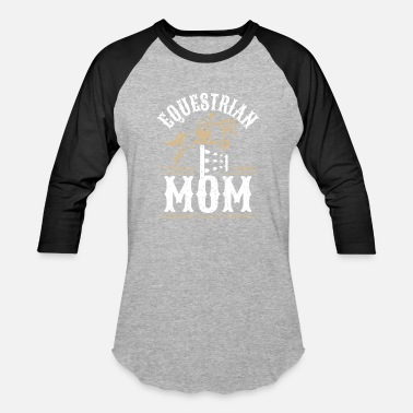 Vaulting Equestrian Mom - Unisex Baseball T-Shirt