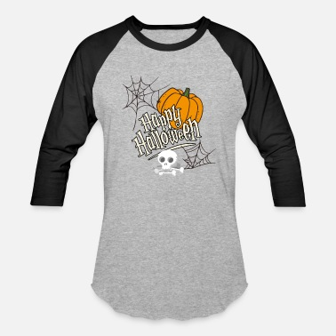 Library Halloween Pumpkin Skeleton Spider Web Scary TShirt - Baseball T-Shirt