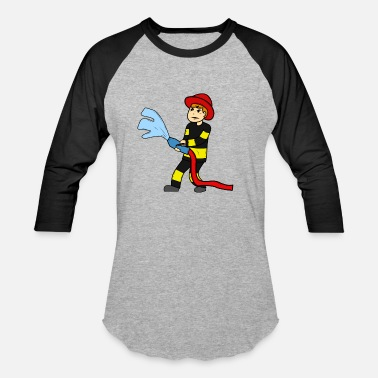 Kids Fire Fire Brigade Kids Shirt - splash - Baseball T-Shirt
