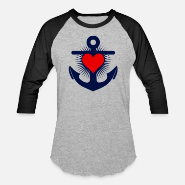Schleswigholstein Tee shirt anchor l'ancre - Baseball T-Shirt
