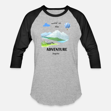 Adventure Blue - Unisex Baseball T-Shirt