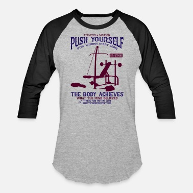 Pain Push Yourself - Unisex Baseball T-Shirt