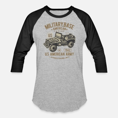 Army Jeep American Army Jeep - Baseball T-Shirt