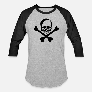 Crossed Bones skull and crossed bones - Unisex Baseball T-Shirt