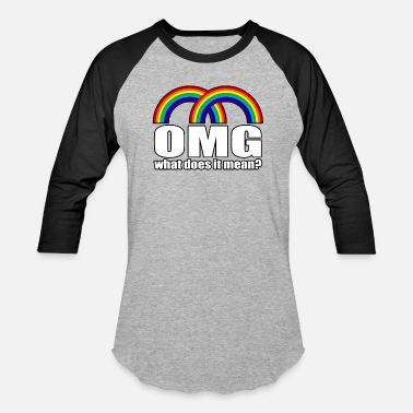Double Meaning Double Rainbow What Does It Mean? - Unisex Baseball T-Shirt