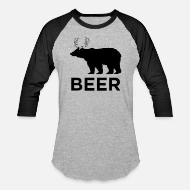 Deer Bear Bear Deer - Baseball T-Shirt