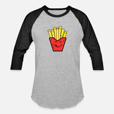 Kids French funny french fries kids children baby present - Baseball T-Shirt