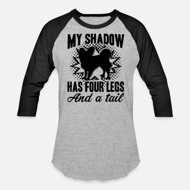Papillon Papillon Is My Shadow Shirt - Unisex Baseball T-Shirt