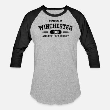 Shooting Club Property of Winchester .308 Athletic Department - Unisex Baseball T-Shirt