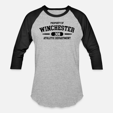 Winchester Rifle Property of Winchester .308 Athletic Department - Baseball T-Shirt
