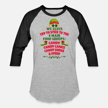 Elves We Elves Christmas Design - Unisex Baseball T-Shirt