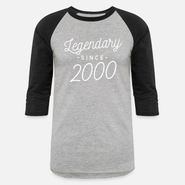 9097100a9 Legendary since 2000 - Unisex Baseball T-Shirt