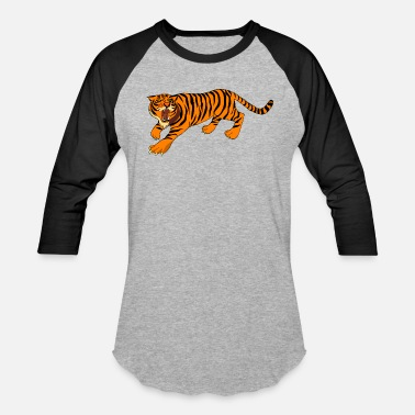 Orange Tiger orange tiger - Baseball T-Shirt