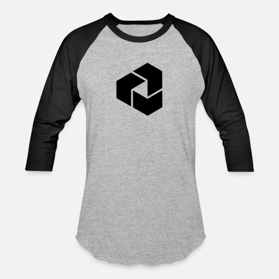 Design T-Shirts - Cube - Unisex Baseball T-Shirt heather gray/black