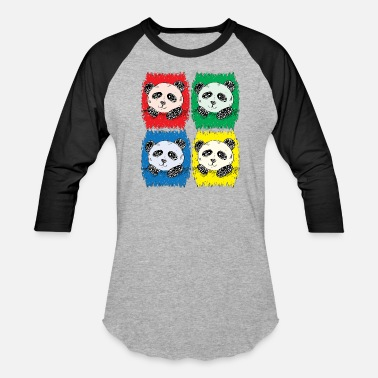 Japan Graffiti panda graffiti love pop art - Baseball T-Shirt