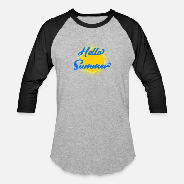 Sun Signs Hello summer sign big Sun - Baseball T-Shirt