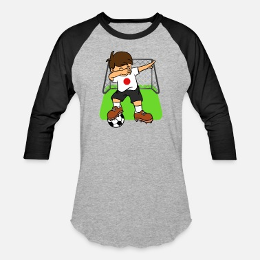 Japanese Kids Japan Soccer Ball Dabbing Kid Japanese Football - Baseball T-Shirt