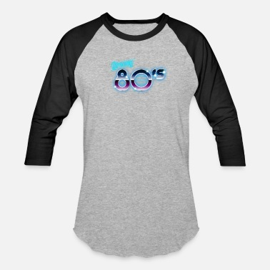 80s Music Groovy 80s Style Neon Retro Cool Gift Music Disco - Baseball T-Shirt