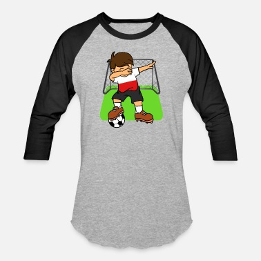 Polish Kids Poland Soccer Ball Dabbing Kid Polish Football - Baseball T-Shirt