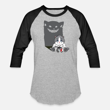 Naive T-shirt - Brazilian Jiu-jitsu Don't mess with a naive cat - Baseball T-Shirt