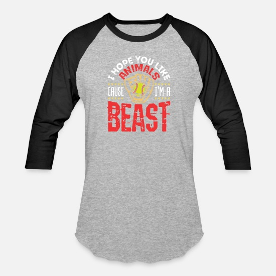 c02d2a58 Softball T-Shirts - Softball Funny Beast Quote - Unisex Baseball T-Shirt  heather
