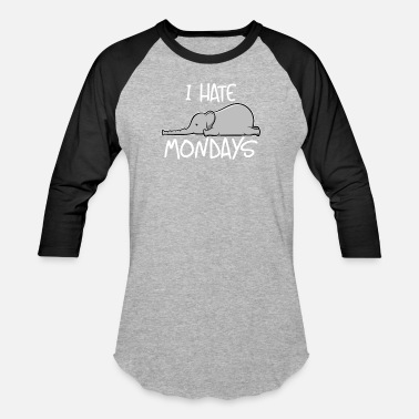 Tusk I Hate Mondays Cute Elephant Monday Hater Gift - Unisex Baseball T-Shirt