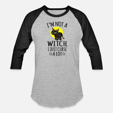 Wicca Witch swearing swearword insult gift - Unisex Baseball T-Shirt