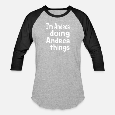 Andrea Personalized Name Gift for Andrea - Unisex Baseball T-Shirt