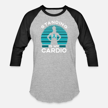 Survivor Standing Is My Cardio - Unisex Baseball T-Shirt