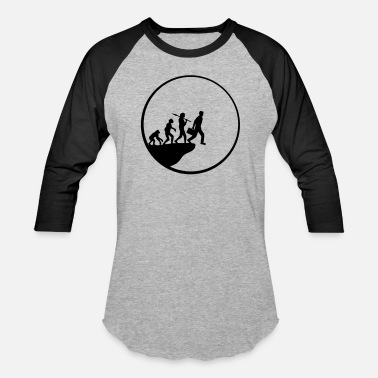 Evolution human evolution evolution moon night round circle - Unisex Baseball T-Shirt