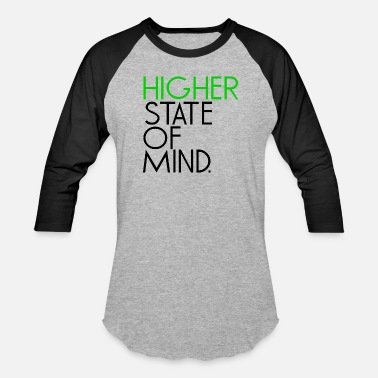 Higher State Of Mind higher state of mind - Black - Unisex Baseball T-Shirt