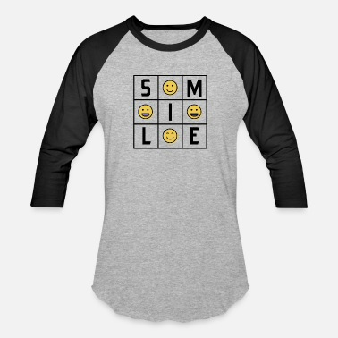 Emoji Smile Emojis for Someone You Care About - Unisex Baseball T-Shirt