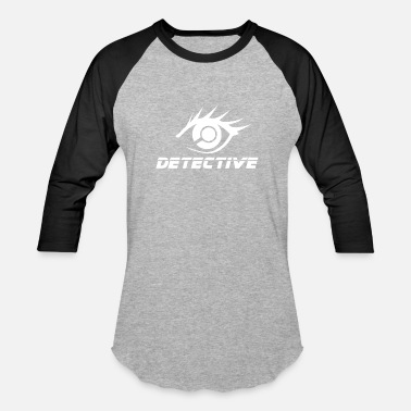 Private Detective Eye Magnifying Glass- Gift Idea - Unisex Baseball T-Shirt