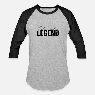 Bloody Legends Bloody Legends logo - Unisex Baseball T-Shirt